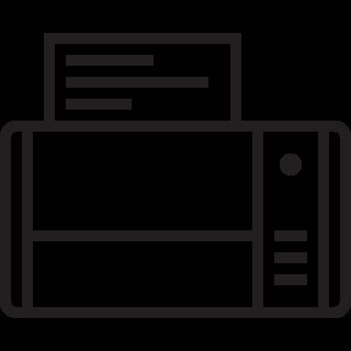 Appliances, Scanner, Copier, Print, Printer, Fax Icon