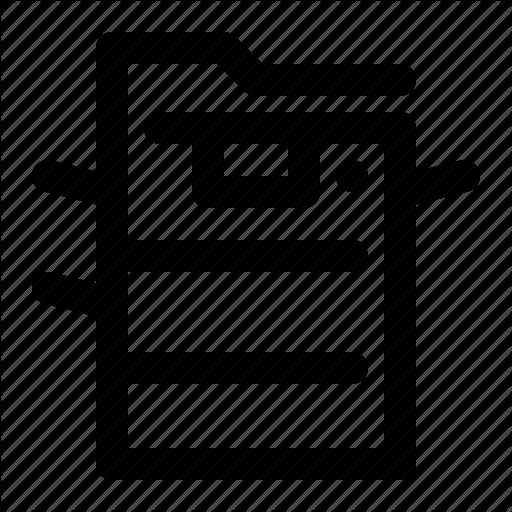 Copier, Copy Machine, Office Icon
