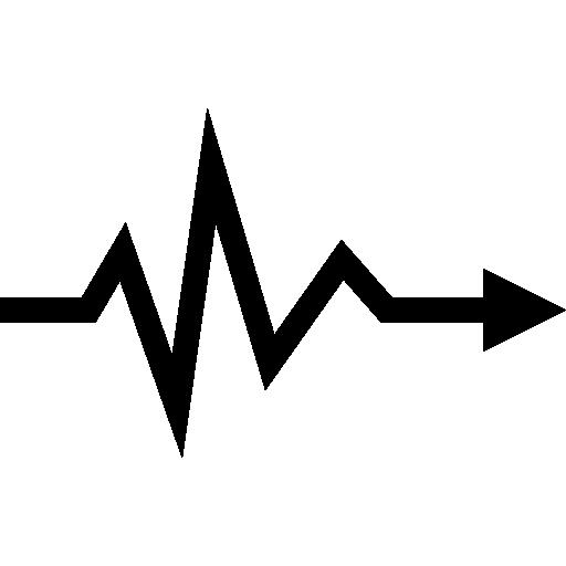 Heartbeat Lifeline Arrow Symbol Icons Free Download