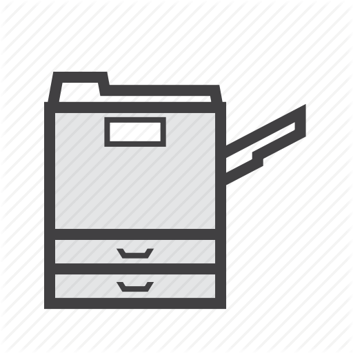 Copier, Copy, Machine Icon