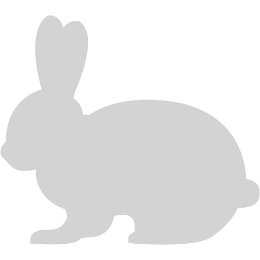 Light Gray Rabbit Icon