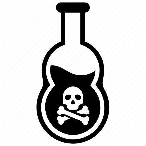 Chemical Bottle, Chemical Flask, Poison Bottle, Poison Jar, Toxic Icon