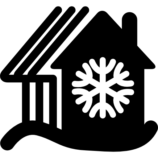 Rural Hot Cottages On Snow Mountains Icons Free Download
