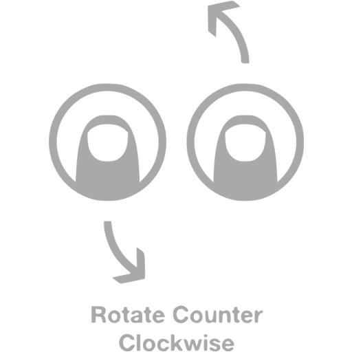 Dark Gray Rotate Counter Clockwise Icon