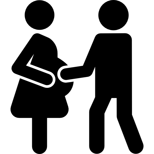 Pregnant Couple Icons Free Download