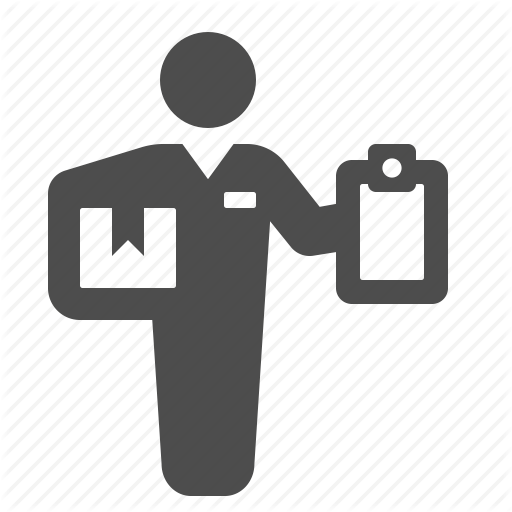 Clipboard, Courier, Delivery, Delivery Man, Logistics, Package Icon