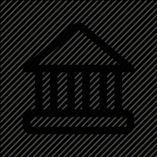 Building, Court, Hall, House, Pillar Icon