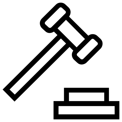 Mace, Gavel, Justice, Law, Courthouse, Judge, Trial, Buildings Icon