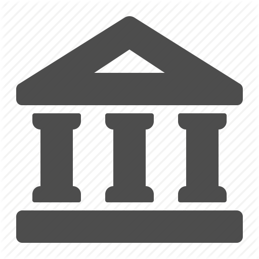 Bank, Building, Columns, Courthouse, Finance, Financial Icon