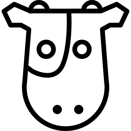 Cow Frontal Head Icons Free Download