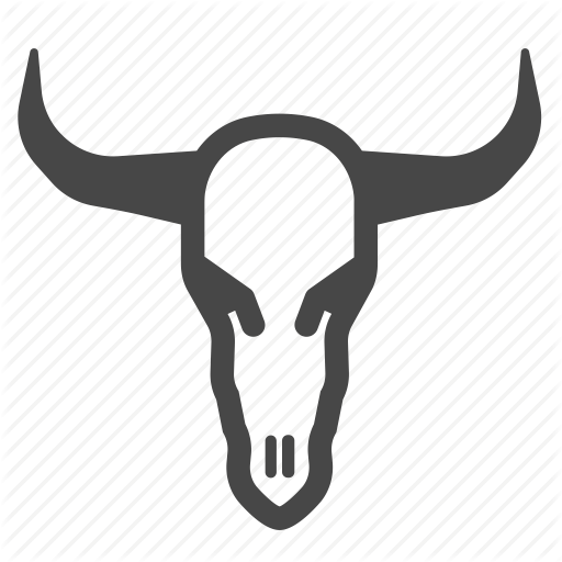 Cow, Dead, Death, Desert, Skull, Western, Wild Wild West Icon