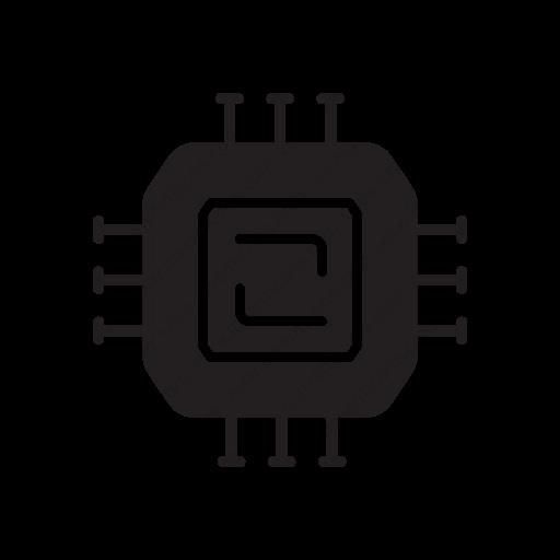 Download Microchip,processor,cpu,cpu,chip Icon Inventicons