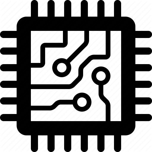 Chip, Circuit, Computer, Cpu, Microchip, Processor, Semiconductor Icon
