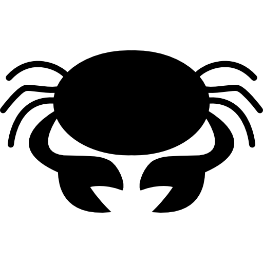 Crab Symbol For Zodiac Cancer Sign Icons Free Download