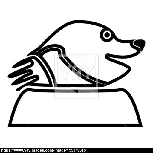 Mole Black Color Icon Flat Style Simple Illustration For Garden