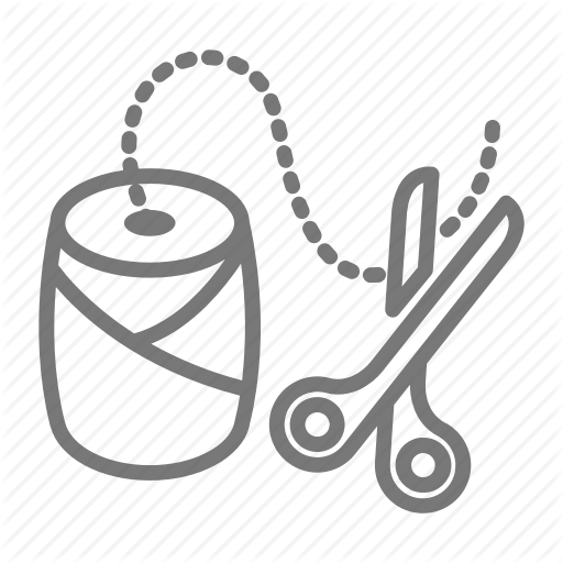 Bakers, Ball, Craft, Cut, Scissors, String, Twine Icon
