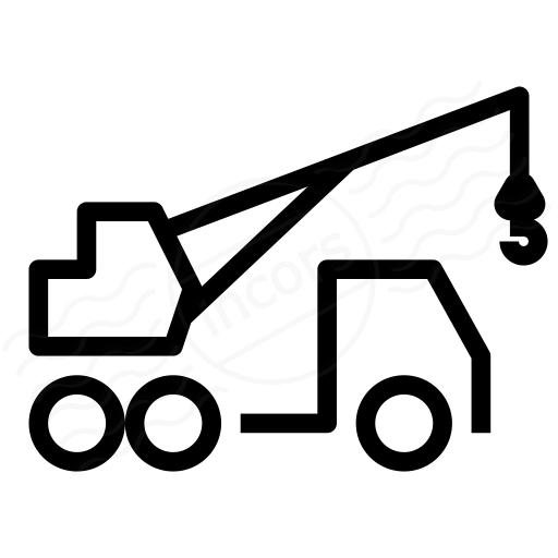 Iconexperience I Collection Mobile Crane Icon