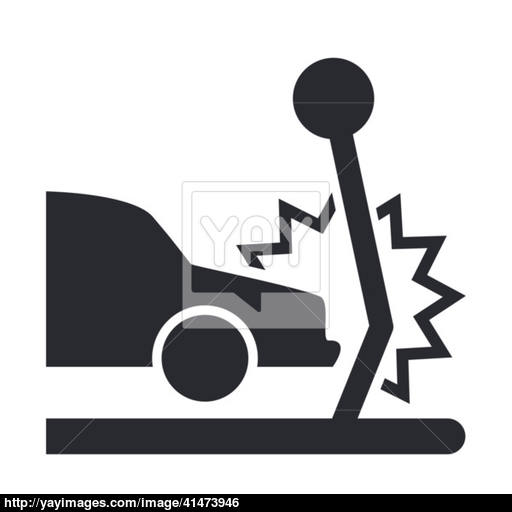 Vector Illustration Of Isolated Car Crash Icon Vector