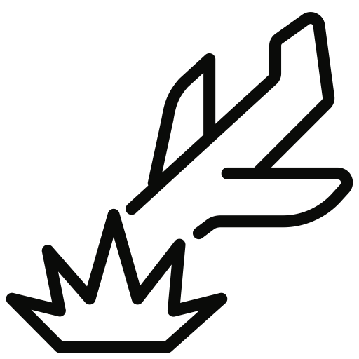 Crash, Plane Icon