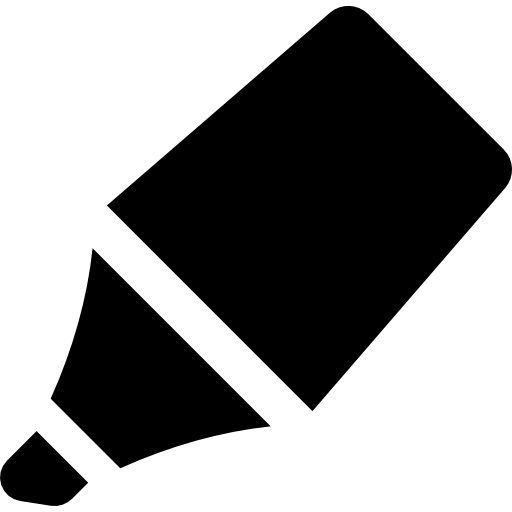 Crayon Flat Black Icon