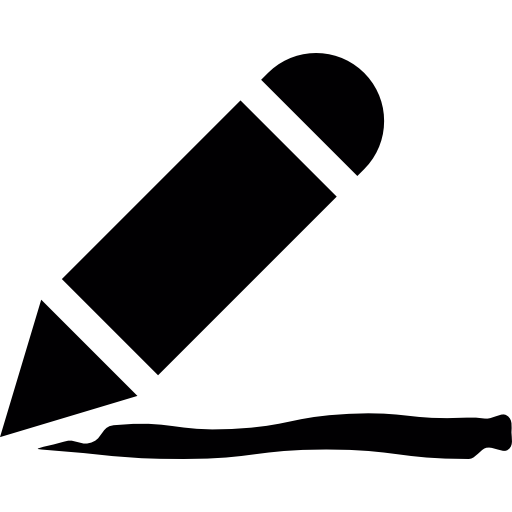 Crayon Silhouette With Small Line Icons Free Download
