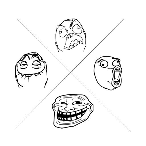 Crazy Impossible Troll Face