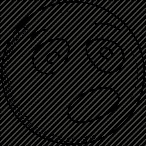 Depressed, Emoji, Eye, Face, Frowning, Side, Unamused Icon