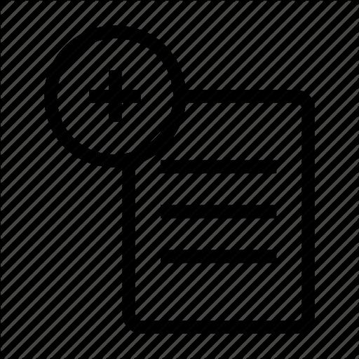 Add, Create, Document, File, Report Icon