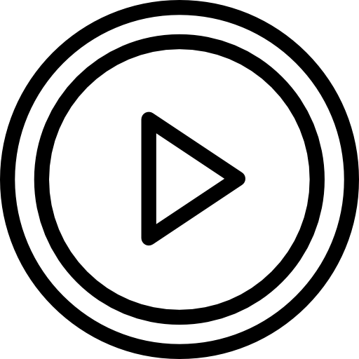 Play Circular Button Outline Icons Free Download