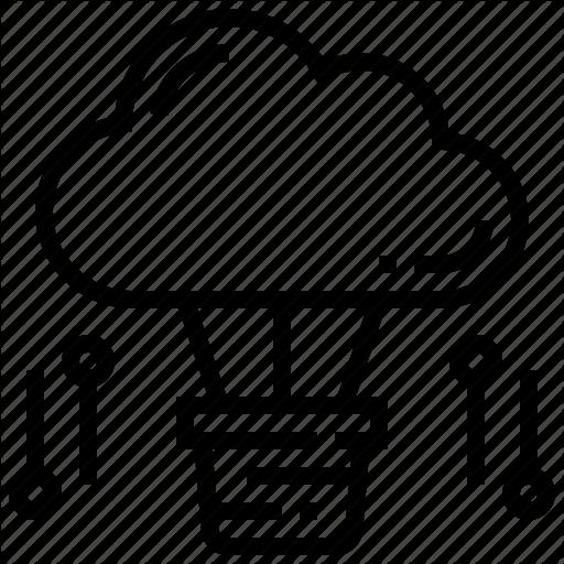 Cloud, Creative, Service, Technology Icon