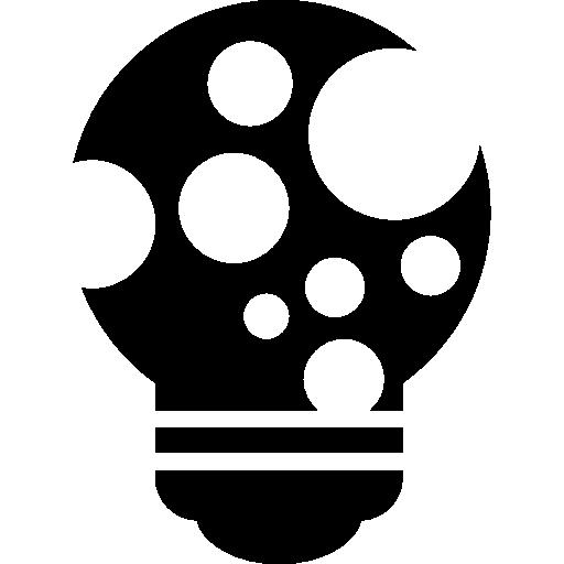 Sparkling Idea Creative Lightbulb Symbol Icons Free Download