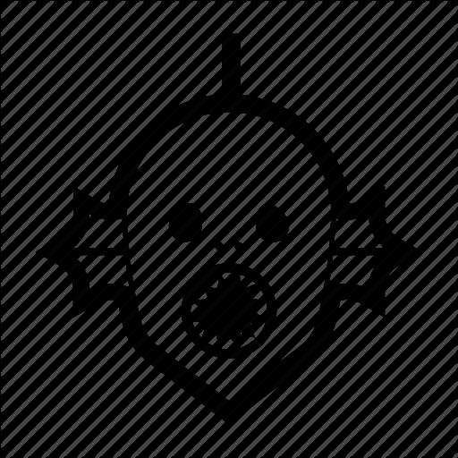 Alien, Halloween, Horror, Monster, Swamp Creature Icon