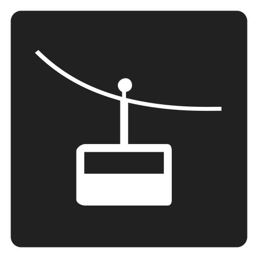 Mountain Cable Car Square Icon