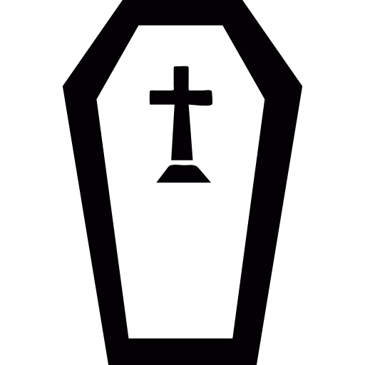 Halloween Creepy Tomb With A Cross Icons Free Download