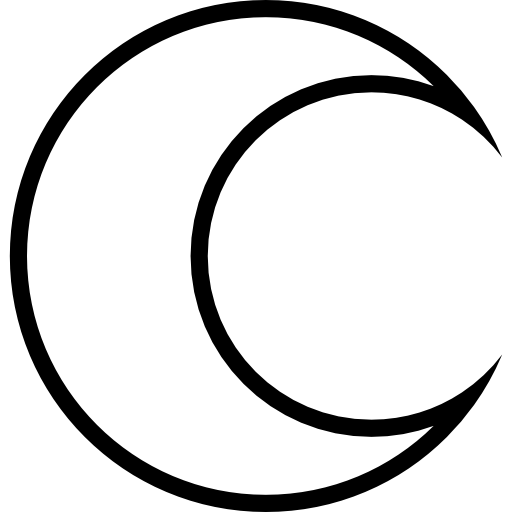 Crescent Moon Outline