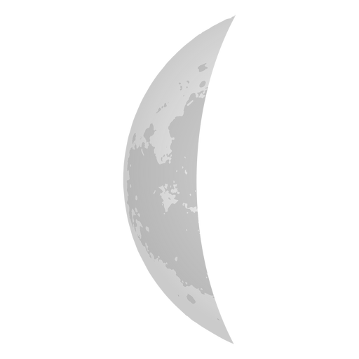 Crescent Moon Realistic Icon