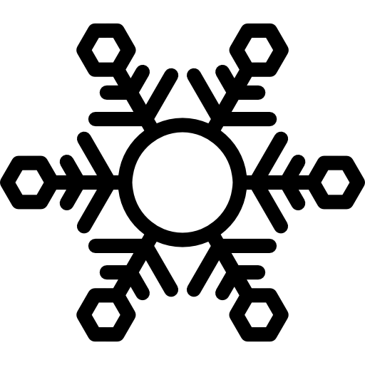 Ice Crystal With Round Center Icons Free Download
