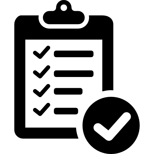 Verification Of Delivery List Clipboard Symbol