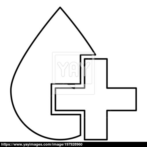 Drop And Cross Icon Black Color Illustration Flat Style Simple