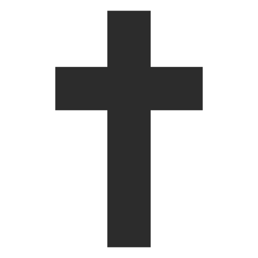 Thick Christian Cross Icon