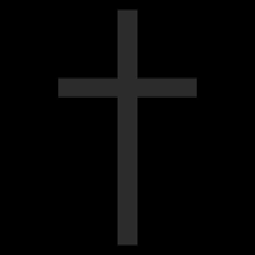 Thin Christian Cross Icon