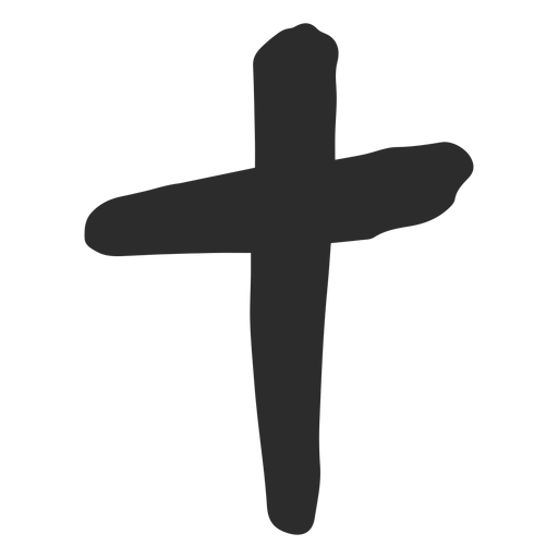 Christian Cross Scribble Icon