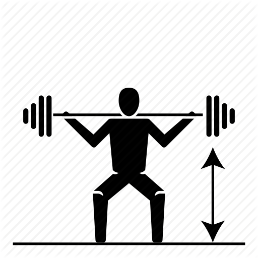 Bodybuilding, Crossfit, Fitness, Legs, Power, Squat Icon