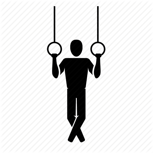 Crossfit, Fitness, Gymnastics, Gymnist, Hang, Rings, Set Icon