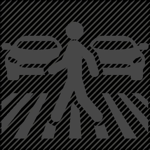 Car, Congestion, Cross, Crosswalk, Traffic, Transport, Walk Icon