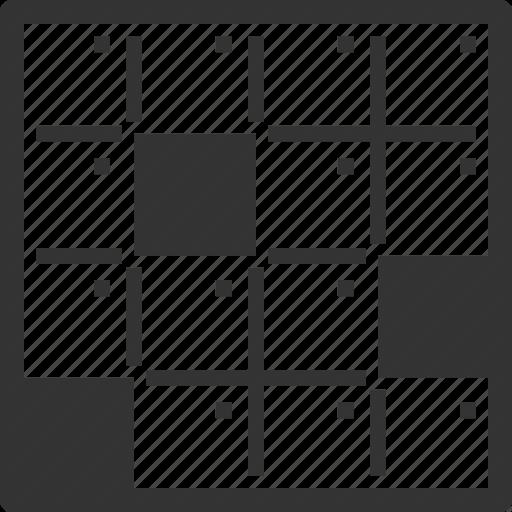 Crossword, Game, Logic Game Icon