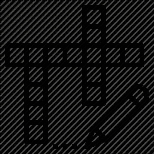 Crossword, Game, Puzzle, Scramble, Word, Write Icon