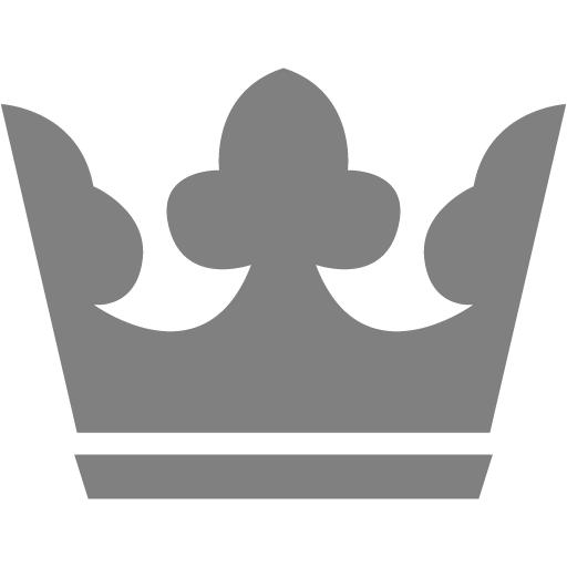 Gray Crown Icon