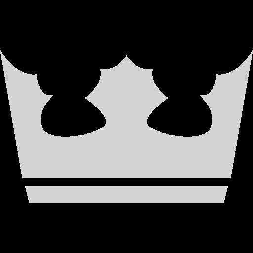 Light Gray Crown Icon