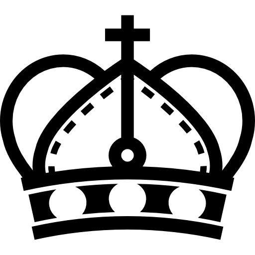 Royal Crown With Round Sides And Cross Symbol Variant Icons Free